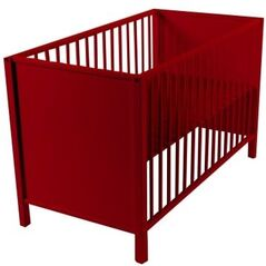 Rood bed 60x120 Quax Cubic 169€ -50% = 85€ ​​(showroommodel)